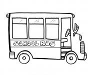 Coloriage Minibus Enfant
