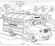 Coloriage et dessins gratuit Un autobus scolaire à imprimer