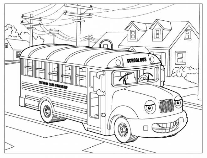 Coloriage et dessins gratuits Un autobus scolaire à imprimer