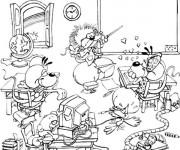 Coloriage et dessins gratuit Un Classe rigolo humoristique à imprimer