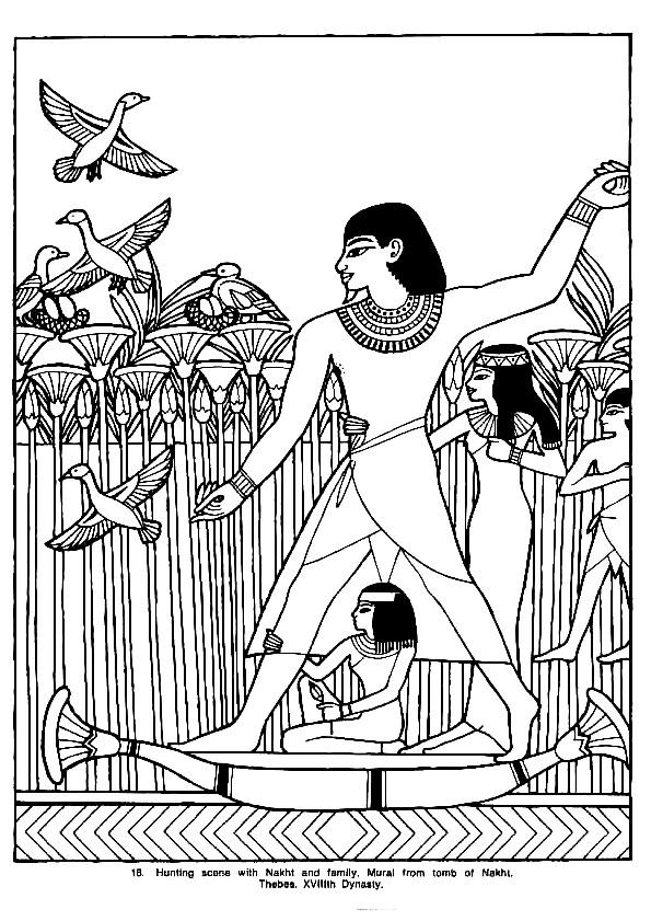 Coloriage et dessins gratuits Agriculture en Egypte à imprimer