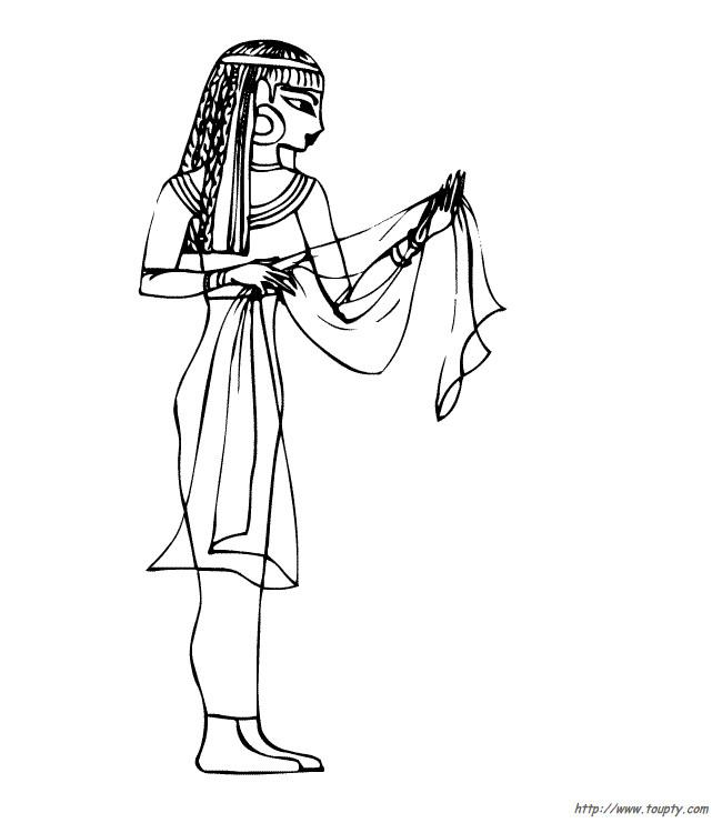 Coloriage et dessins gratuits Belle égyptienne à colorier à imprimer