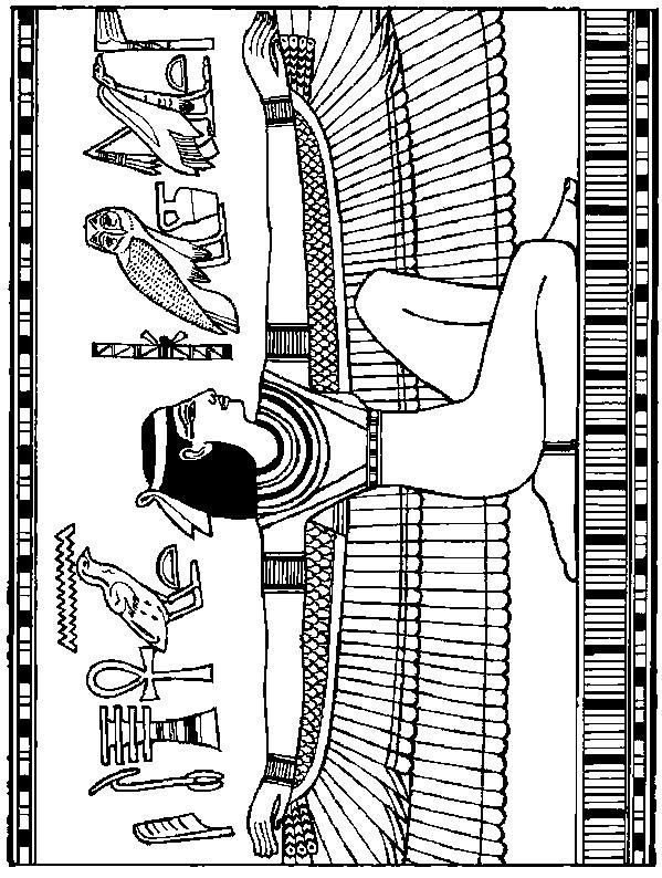 Coloriage A Imprimer Egypte Antique.Coloriage Decoration En Egypte Ancienne Dessin Gratuit A