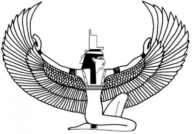 Coloriage et dessins gratuits Dieu Egyptien à imprimer