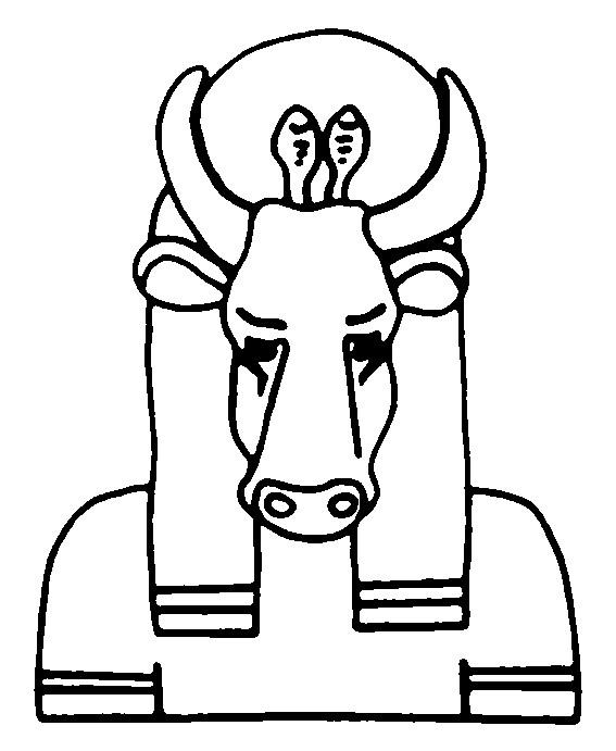 Coloriage et dessins gratuits Dieu Toureau en Egypte à imprimer