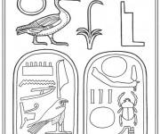 Coloriage et dessins gratuit Egypte 2 à imprimer