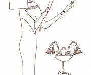 Coloriage et dessins gratuit Egypte 20 à imprimer