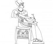Coloriage et dessins gratuit Egypte 22 à imprimer