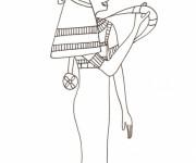 Coloriage et dessins gratuit Egypte 24 à imprimer