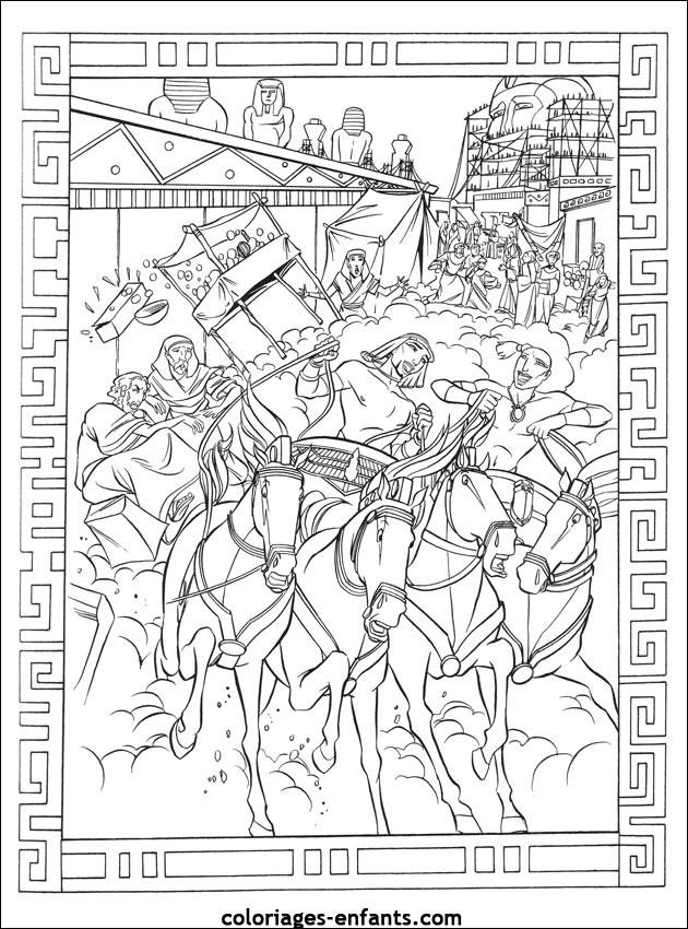 Coloriage et dessins gratuits Egypte 25 à imprimer