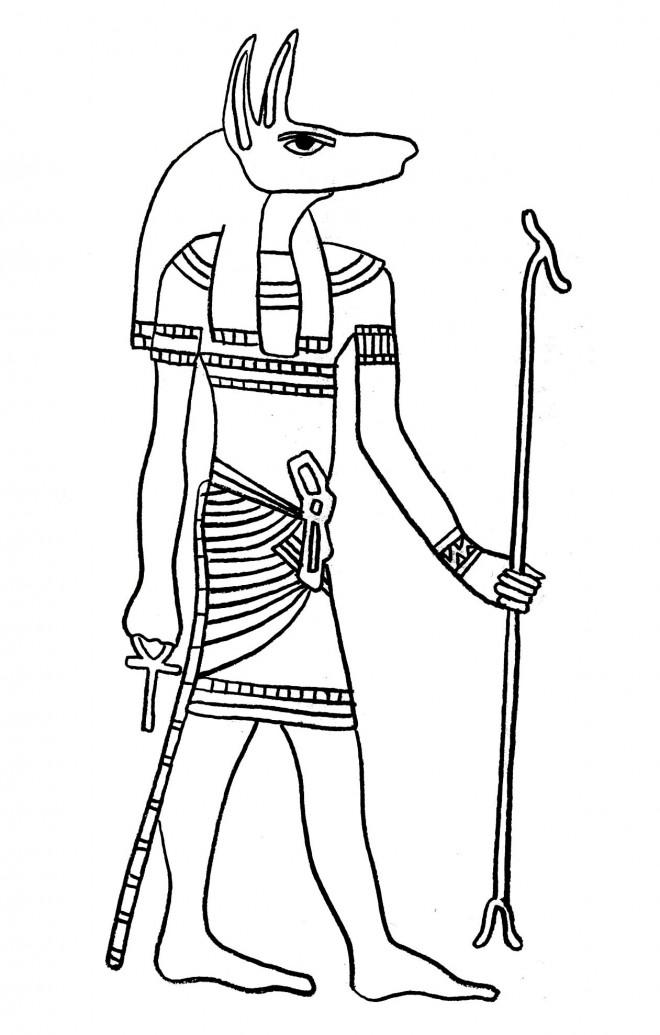 Coloriage et dessins gratuits Egypte 27 à imprimer