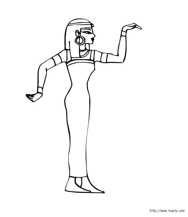 Coloriage et dessins gratuits Egypte 29 à imprimer