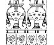 Coloriage et dessins gratuit Egypte 31 à imprimer