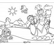 Coloriage et dessins gratuit Egypte 38 à imprimer
