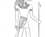 Coloriage et dessins gratuit Egypte 48 à imprimer