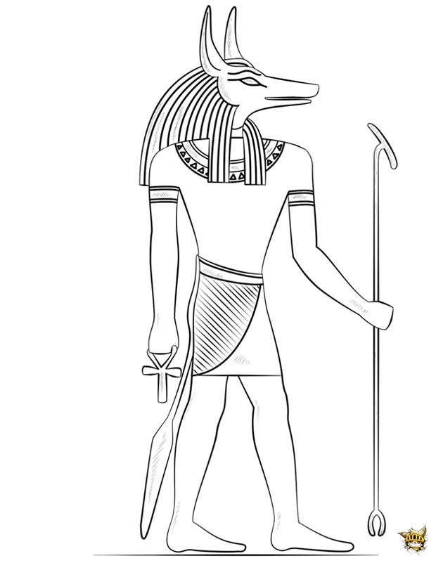 Coloriage et dessins gratuits Egypte 48 à imprimer