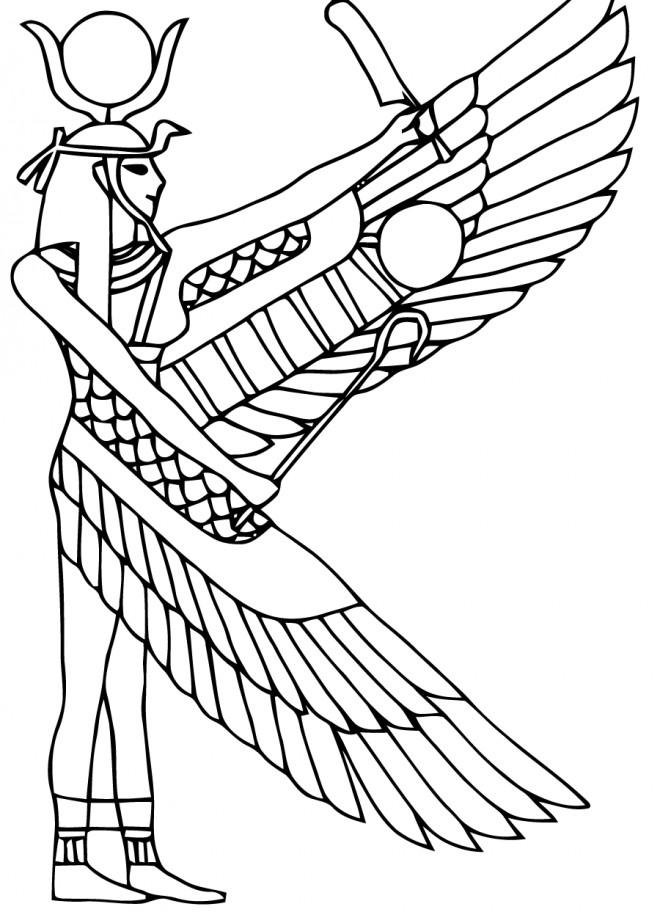 Coloriage et dessins gratuits Egypte 5 à imprimer