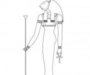 Coloriage et dessins gratuit Egypte 51 à imprimer