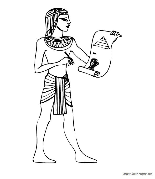 Coloriage et dessins gratuits Egypte 52 à imprimer