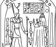 Coloriage et dessins gratuit Egypte 55 à imprimer
