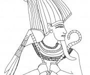 Coloriage et dessins gratuit Egypte 6 à imprimer