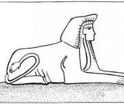 Coloriage et dessins gratuit Egypte 63 à imprimer