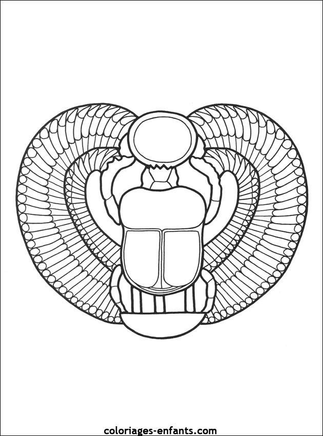 Coloriage et dessins gratuits Egypte 66 à imprimer