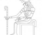 Coloriage et dessins gratuit Egypte 68 à imprimer
