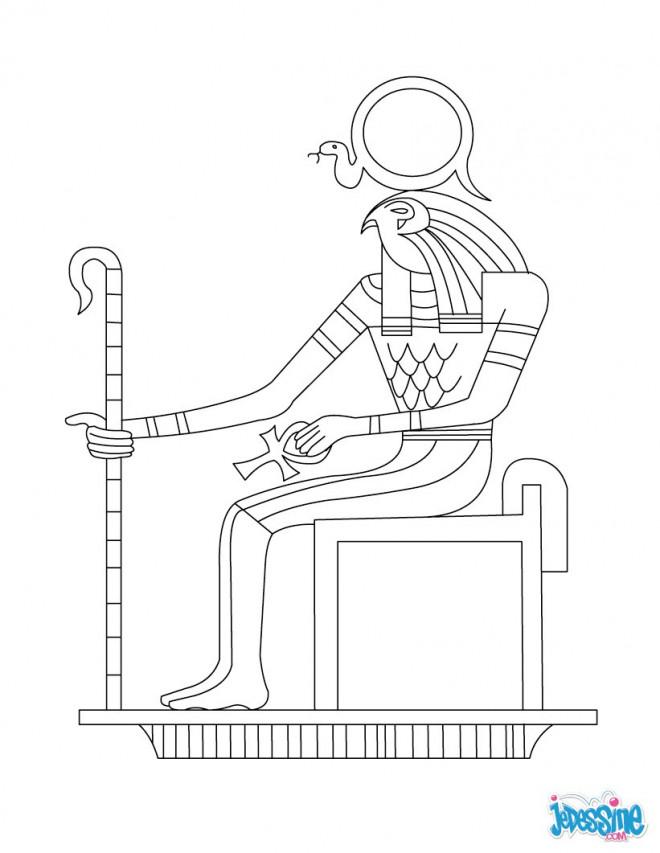 Coloriage et dessins gratuits Egypte 68 à imprimer