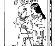 Coloriage et dessins gratuit Egypte 69 à imprimer