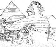 Coloriage et dessins gratuit Egypte 73 à imprimer