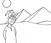 Coloriage et dessins gratuit Egypte 79 à imprimer