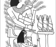 Coloriage et dessins gratuit Egypte 81 à imprimer