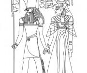 Coloriage et dessins gratuit Egypte 82 à imprimer