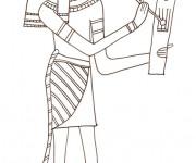 Coloriage et dessins gratuit Egypte ancienne au crayon à imprimer