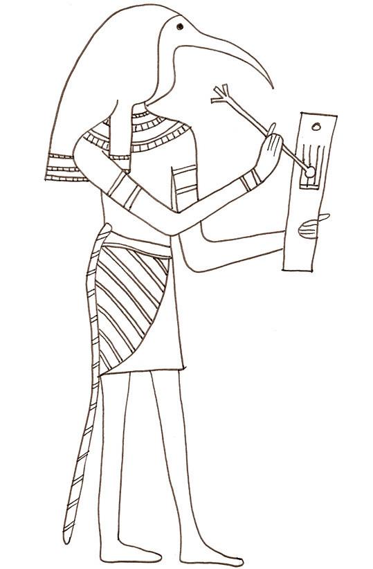 Coloriage et dessins gratuits Egypte ancienne au crayon à imprimer