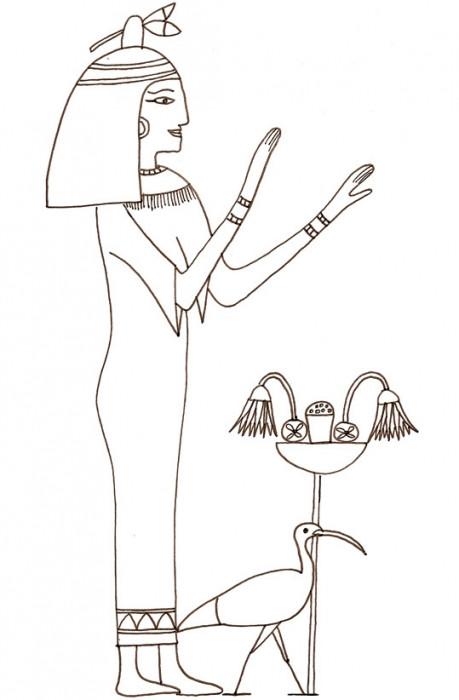 Coloriage et dessins gratuits Egypte ancienne simple à imprimer