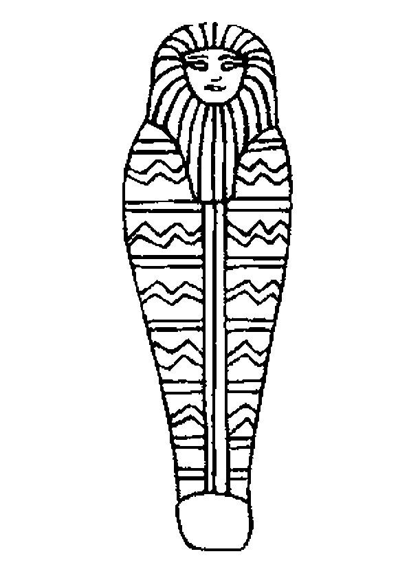 Coloriage et dessins gratuits Egypte antique en noir et blanc à imprimer