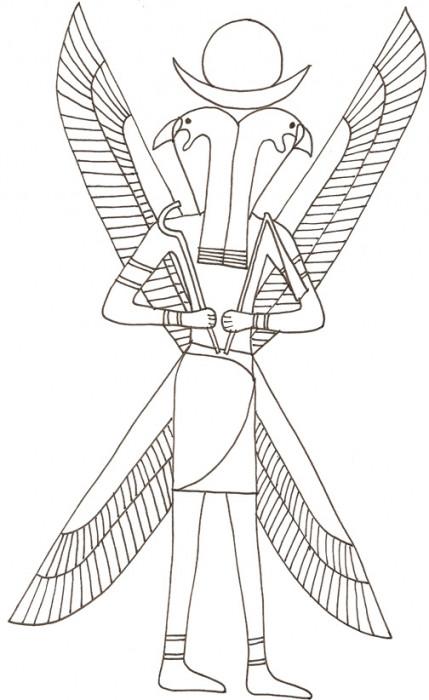 Coloriage et dessins gratuits Egypte antique pour enfant à imprimer