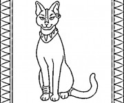 Coloriage Egypte Chat sacré