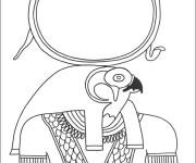 Coloriage et dessins gratuit Egypte Horus à imprimer