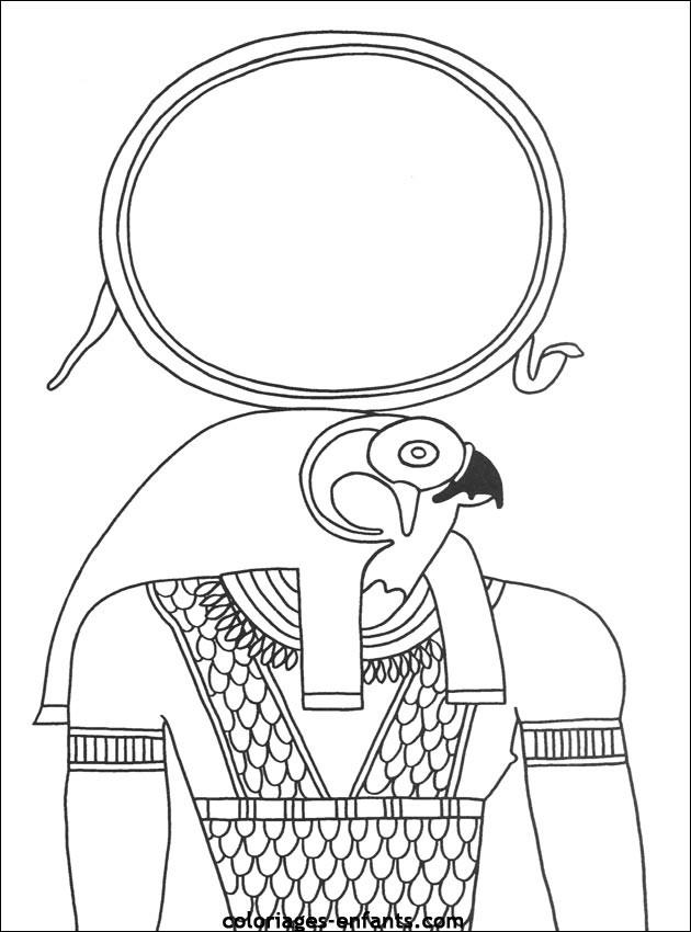 Coloriage A Imprimer Egypte Antique.Coloriage Egypte Horus Dessin Gratuit A Imprimer
