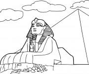 Coloriage et dessins gratuit Egypte Le sphinx de Gizeh à imprimer