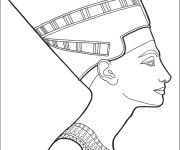 Coloriage Egypte Nefertiti