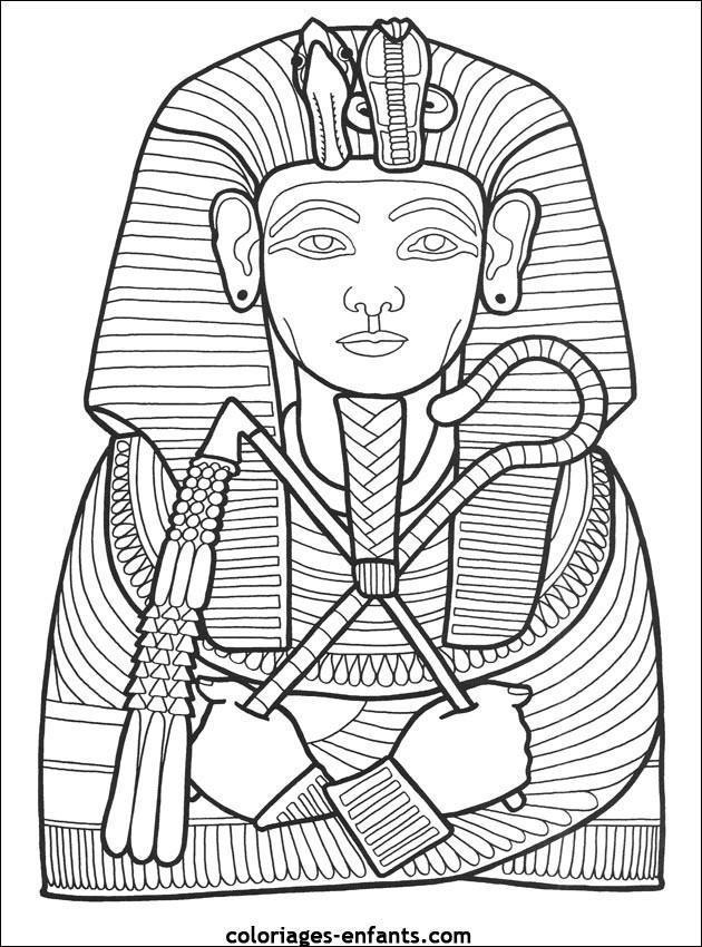 Coloriage et dessins gratuits Egypte Pharaon à imprimer