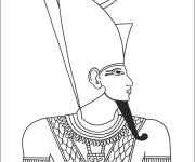 Coloriage et dessins gratuit Egypte Pharaon à décorer à imprimer