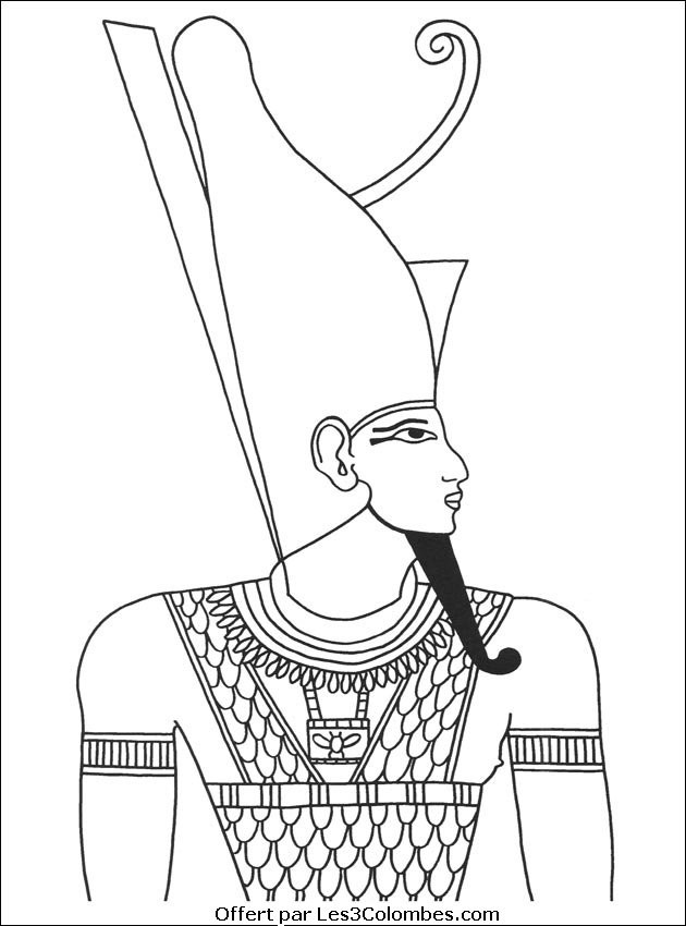 Coloriage et dessins gratuits Egypte Pharaon à décorer à imprimer