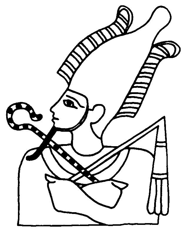 Coloriage et dessins gratuits Egypte Pharaon à découper à imprimer