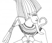 Coloriage Egypte Pharaon facile