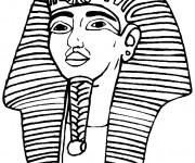 Coloriage et dessins gratuit Egypte Pharaon Toutânkhamon à imprimer